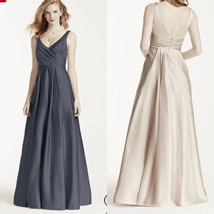 Satin Tank Long Ball Gown F15841